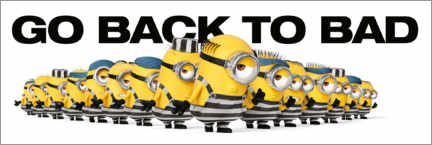 Wandsticker  Minions - Back to bad
