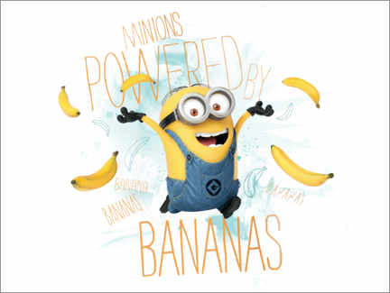 Premium-Poster Minions - Banana Power