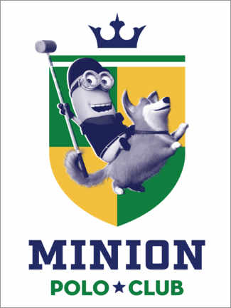 Premium-Poster Minion Polo Club