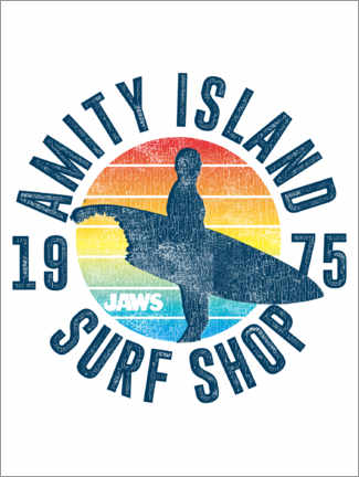 Premium-Poster  Amity Island Surf Shop