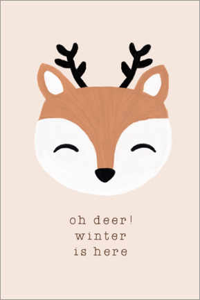 Leinwandbild  Oh Deer Winter Is Here - Orara Studio