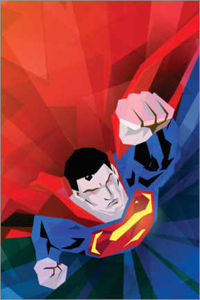 Premium-Poster Superman red and blue
