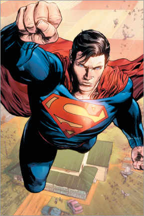 Premium-Poster Superman in Action