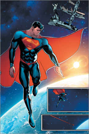 Premium-Poster Superman Weltraum Comic