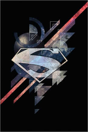 Premium-Poster Superman Power Shield