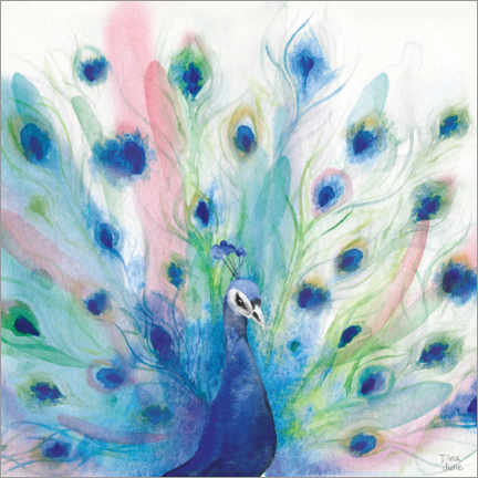 Leinwandbild  Peacock Glory IV - Dina June