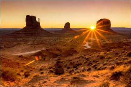 Wandsticker  Sonnenaufgang im Monument Valley - Marcel Gross