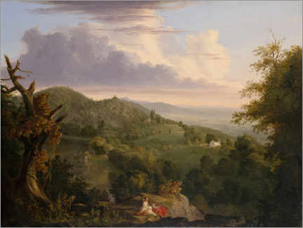 Gallery Print  Ansicht von Monte Video - Thomas Cole