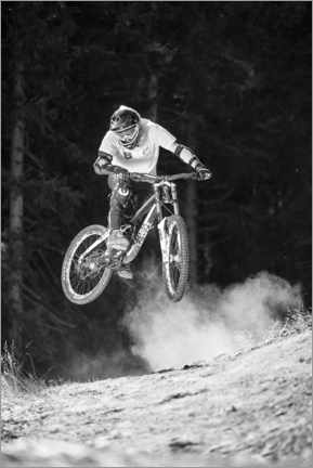 Premium-Poster  Mountainbiker - Christian Vorhofer