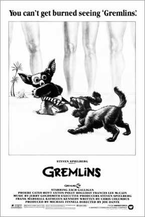 Holzbild  Gremlins - Gizmo am Strand - Entertainment Collection