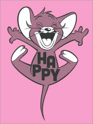 Premium-Poster Happy Jerry Pink