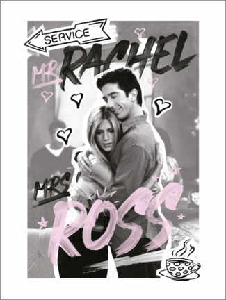 Premium-Poster  Friends - Ross und Rachel