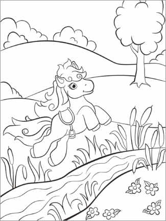 Ausmalposter  Kleines Pony - Kidz Collection