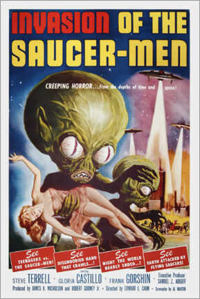 Premium-Poster Invasion of the Saucer men