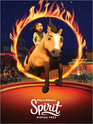 Hartschaumbild  Spirit Riding Free - Manege