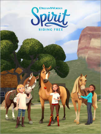 Premium-Poster Spirit Riding Free - Trio