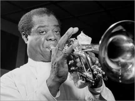 Gallery Print  Louis Armstrong - William P. Gottlieb/LOC