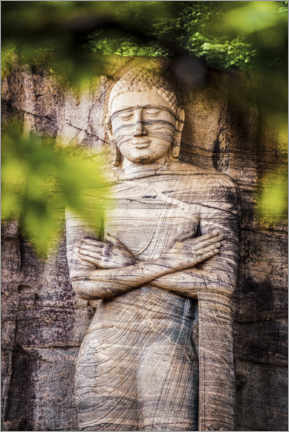 Alubild  Riesige Buddha-Statue in Sri Lanka - Matthew Williams-Ellis