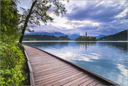 Wandsticker  Lake Bled bei Sonnenuntergang - Matthew Williams-Ellis