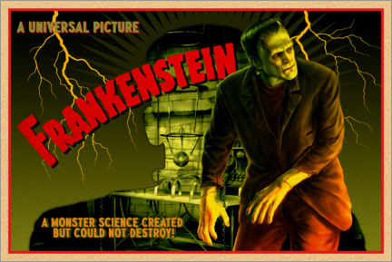 Premium-Poster Frankenstein - Science created monster