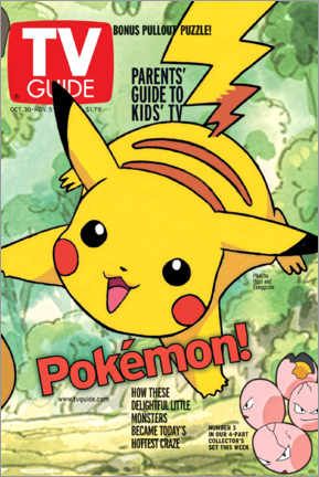 Leinwandbild  Pokémon - Pikachu - TV Guide