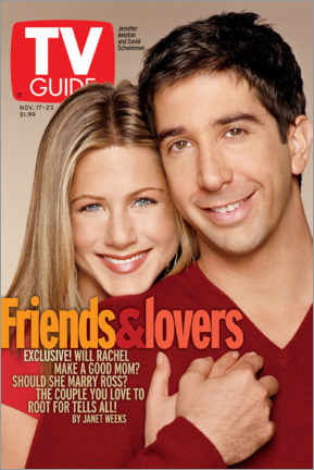Hartschaumbild  Rachel and Ross - Friends & Lovers - TV Guide