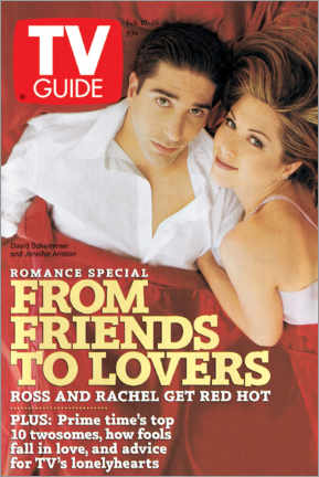 Acrylglasbild  Ross und Rachel - Friends to lovers - TV Guide