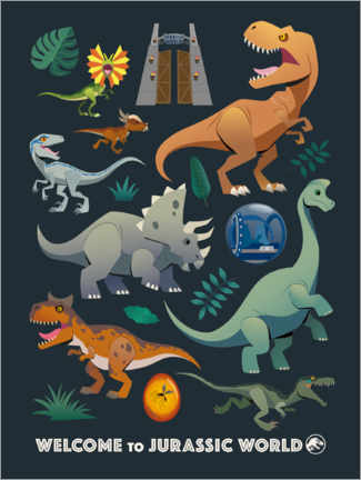 Premium-Poster Welcome to Jurassic World