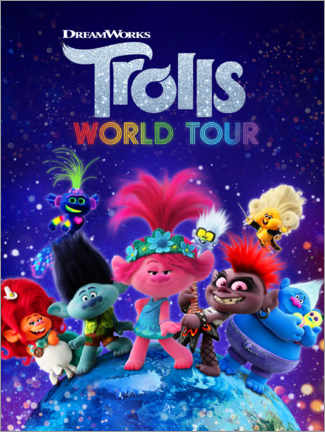 Leinwandbild  Trolls World Tour - Around the globe