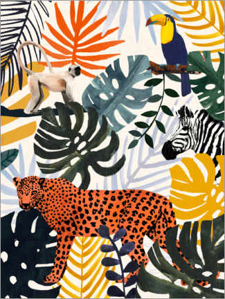 Leinwandbild  Jungle Jumble II - Victoria Borges