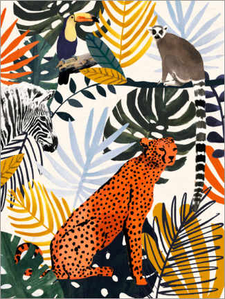 Premium-Poster Jungle Jumble I