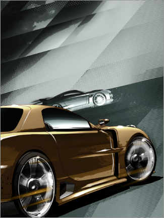 Premium-Poster  F & F - Golden car