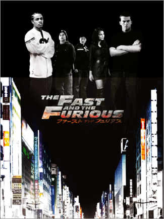 Acrylglasbild  The Fast and the Furious - Tokyo drift