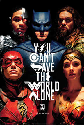 Hartschaumbild  Justice League - Can't save the world alone