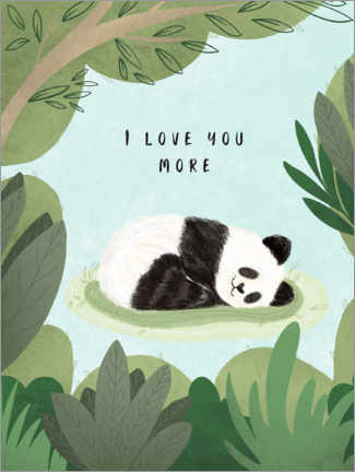 Holzbild  I love you more - Nikita Jariwala