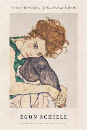 Hartschaumbild  Schiele - Primordially eternal - Museum Art Edition