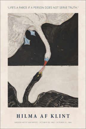 Leinwandbild  Hilma af Klint - Serve truth - Museum Art Edition