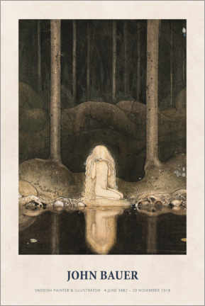 Gallery Print  John Bauer - Princess Tuvstarr gazing down - Museum Art Edition
