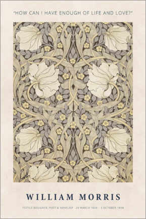 Gallery Print  William Morris - Life and love - Museum Art Edition