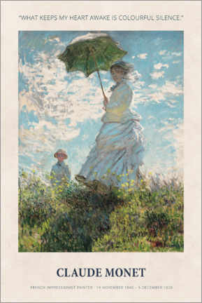Premium-Poster Claude Monet - Colourful silence