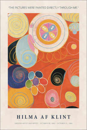 Gallery Print  Hilma af Klint - Directly through me - Museum Art Edition