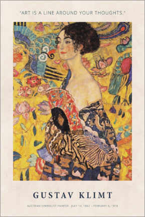 Acrylglasbild  Gustav Klimt - A line around your thoughts - Museum Art Edition