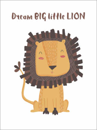 Gallery Print  Dream big little lion - Marta Munte