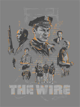 Premium-Poster  The Wire, Staffel 4 - The Usher designs