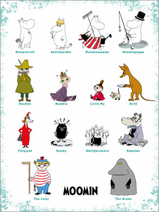 Premium-Poster We are the Moomins