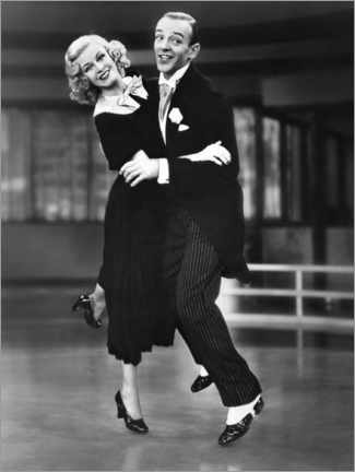 Premium-Poster Ginger Rogers und Fred Astaire
