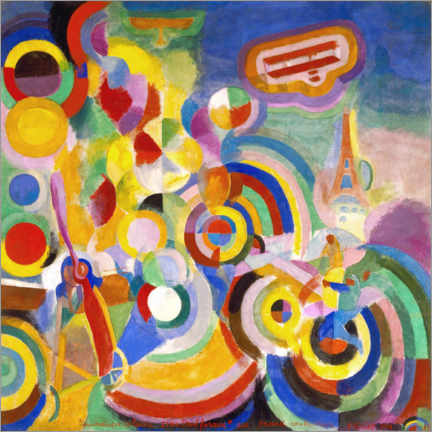 Gallery Print  Hommage an Blériot - Robert Delaunay