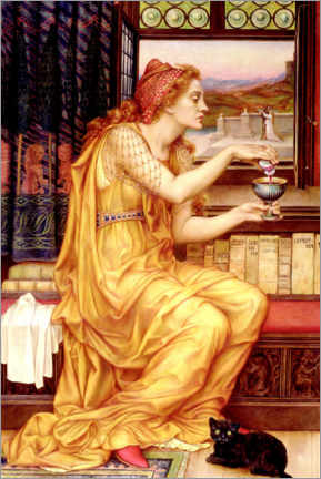 Wandsticker  Der Liebestrank - Evelyn De Morgan