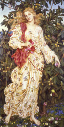 Leinwandbild  Flora - Evelyn De Morgan