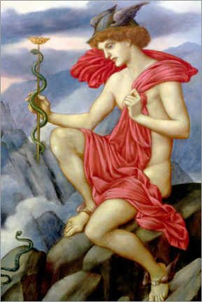 Wandsticker  Merkur - Evelyn De Morgan